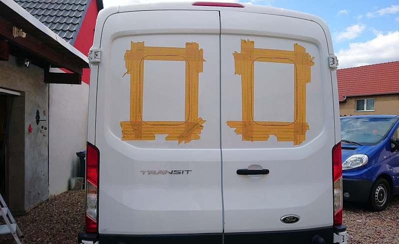 Kastenwagen Fenster einbauen