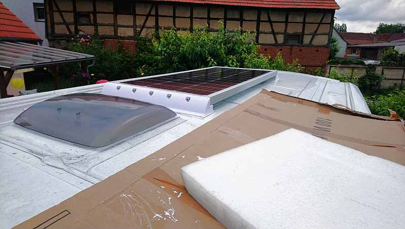 Kastenwagen Solaranlage Ford Transit Ausbau
