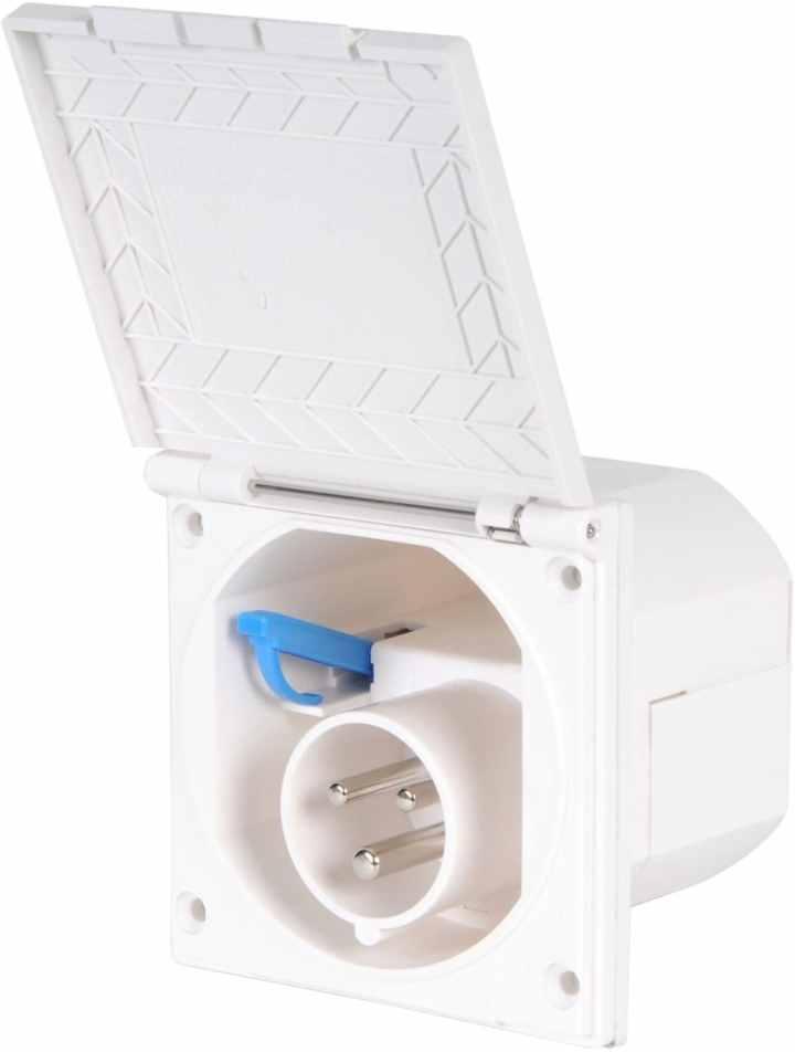 Elektro Kastenwagen Camper Installation Ford Transit CEE Adapter