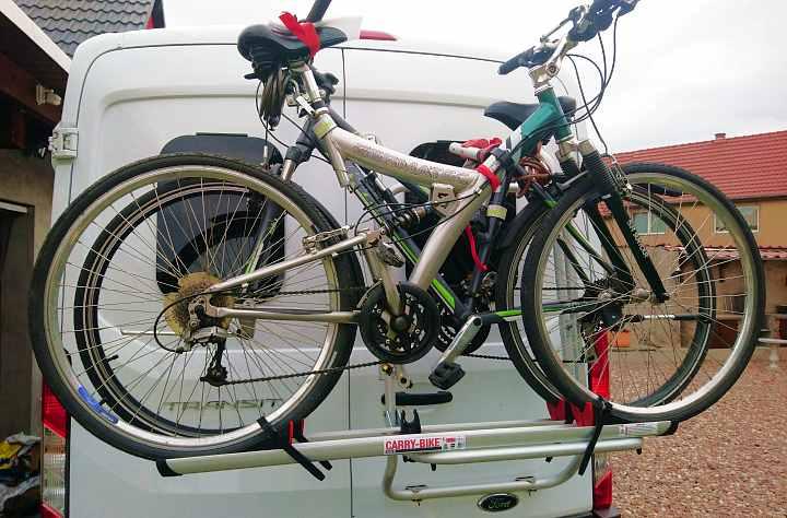 Fahrradtträger Hecktür für Camper Kastenwagen passend Ford Transit