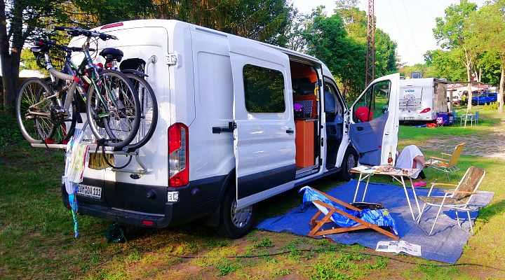 Fahrradträger für Kastenwagen Ford Transit Camper