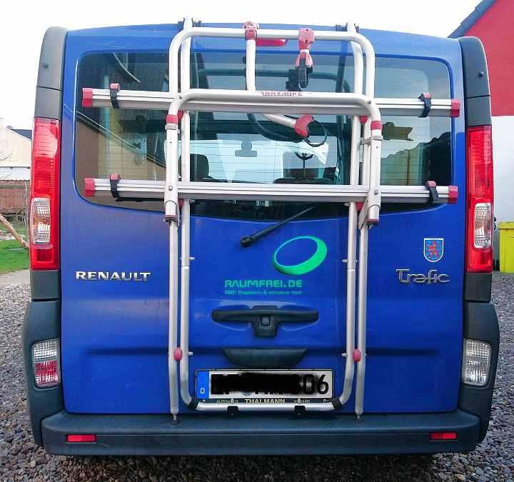 Fahrradträger für Camper Renault Trafic mit Heckklappe