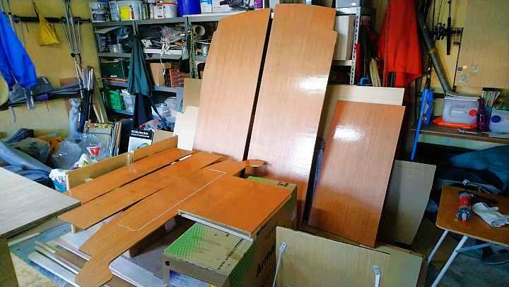 Ford Transit Ausbau Möbel im Kastenwagen