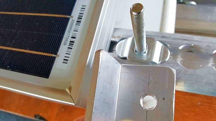 Solarmodule auf Kastenwagen Dach